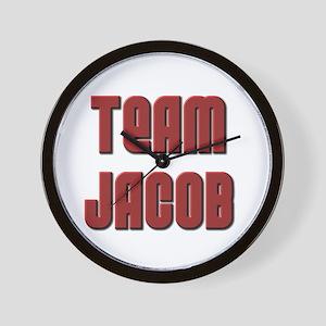 Twilight ~ Team Jacob [RED] Wall Clock